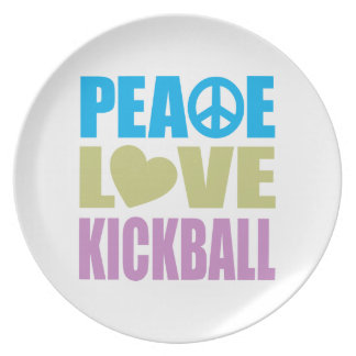 Peace Love Kickball Party Plates