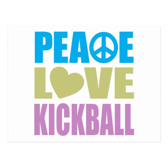 Peace Love Kickball Postcard