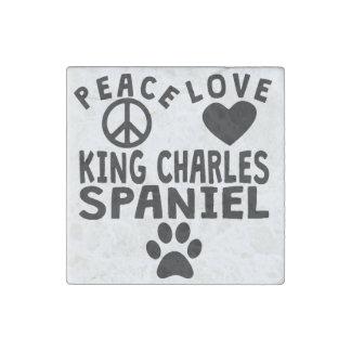 Peace Love King Charles Spaniel Stone Magnet