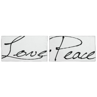 Peace & Love King Pillow Cases