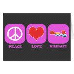Peace Love Kiribati Card