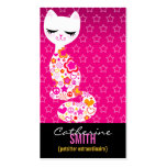 Peace & Love Kitty (Vertical) Business Card Template