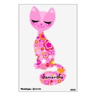 Peace & Love Kitty Wall Sticker