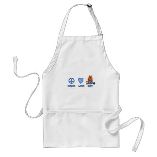 peace love knit adult apron