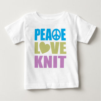 Peace Love Knit Baby T-Shirt
