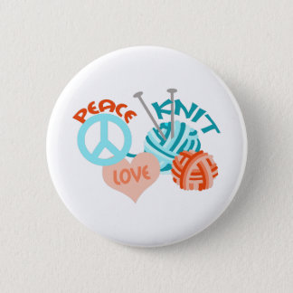 PEACE LOVE KNIT BUTTON