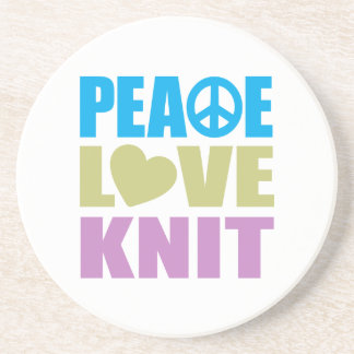Peace Love Knit Beverage Coasters