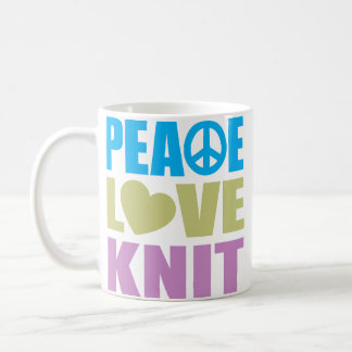Peace Love Knit Coffee Mug