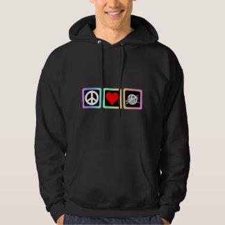 Peace love knit hoodie