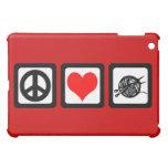 peace love knit iPad mini case