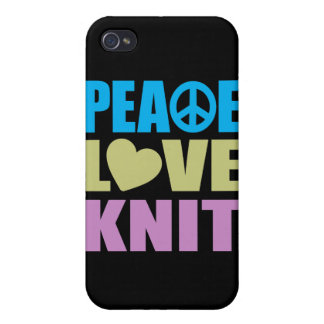 Peace Love Knit iPhone 4 Case