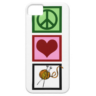 Peace Love Knit iPhone SE/5/5s Case