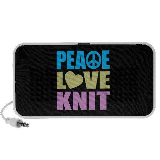 Peace Love Knit Mp3 Speakers
