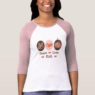 Peace Love Knit Raglan T shirt