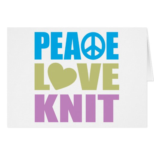 Peace Love Knit Stationery Note Card