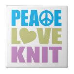 Peace Love Knit Tile