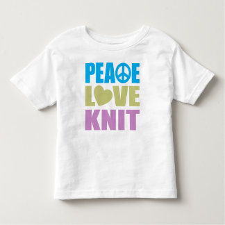 Peace Love Knit Toddler T-shirt