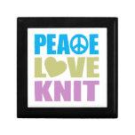 Peace Love Knit Trinket Boxes
