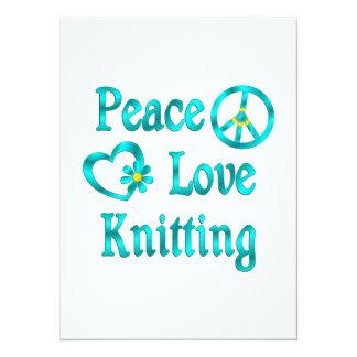 Peace Love Knitting Card