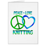 Peace Love KNITTING Cards