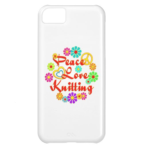 PEACE LOVE Knitting iPhone 5C Covers