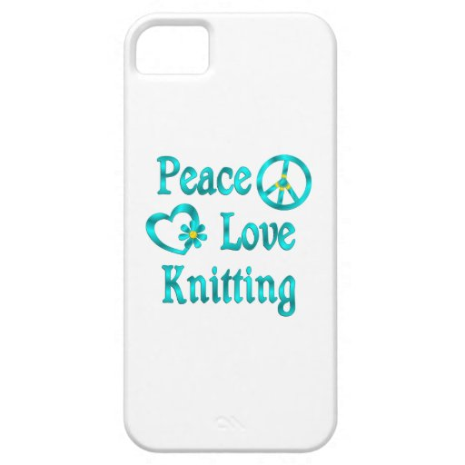 Peace Love Knitting Cover For iPhone 5/5S