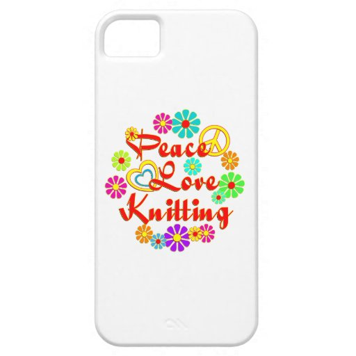PEACE LOVE Knitting iPhone 5 Case