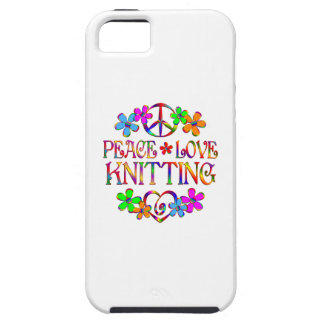 Peace Love Knitting iPhone SE/5/5s Case