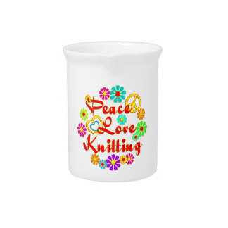 PEACE LOVE Knitting Drink Pitchers