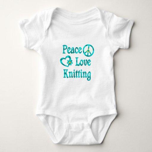 Peace Love Knitting Tees