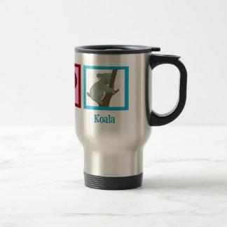 Peace Love Koala 15 Oz Stainless Steel Travel Mug