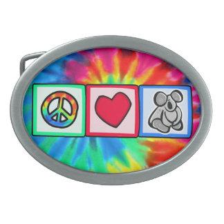 Peace, Love, Koalas Belt Buckle