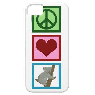 Peace Love Koalas iPhone 5 Cases