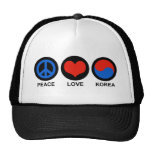 Peace Love Korea Mesh Hats