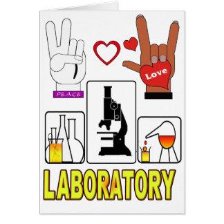 PEACE LOVE LABORATORY GREETING CARD