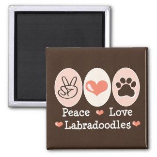 Peace Love Labradoodles Magnet