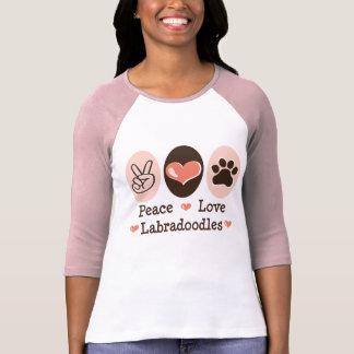Peace Love Labradoodles Raglan T shirt