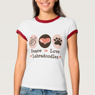 Peace Love Labradoodles Ringer Tee