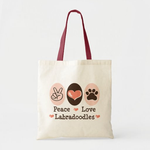 Peace Love Labradoodles Tote Bag