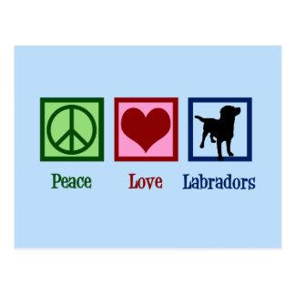 Peace Love Labrador Postcard