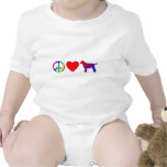 Peace Love Labrador Retrievers T-shirts