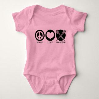 Peace Love Lacrosse Baby Bodysuit