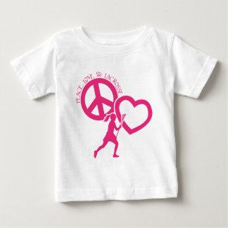 PEACE-LOVE-LACROSSE BABY T-Shirt
