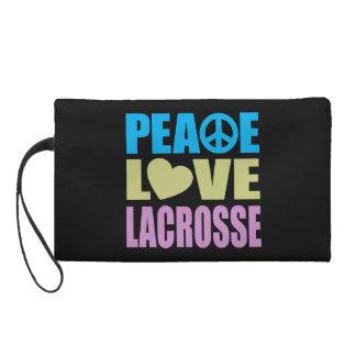 Peace Love Lacrosse Wristlet Clutch