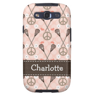Peace Love Lacrosse Samsung Galaxy SIII Covers