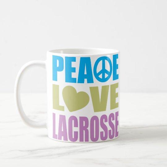 Peace Love Lacrosse Coffee Mug