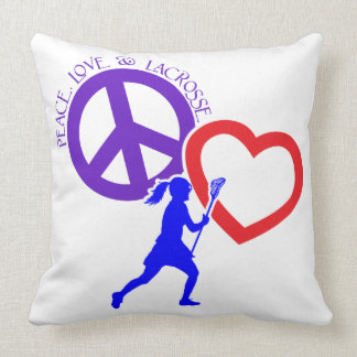 PEACE-LOVE-LACROSSE COJÍN