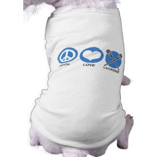 Peace Love Lacrosse Doggie Tee Shirt