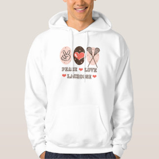 Peace Love Lacrosse Hooded Sweatshirt