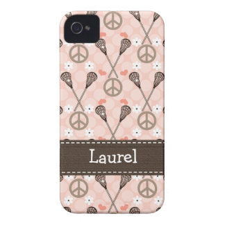 Peace Love Lacrosse iPhone 4 4s Case-Mate Cover Case-Mate iPhone 4 Cases